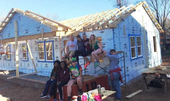 The Habitat House built by College of Charleston Alternate Spring Break participants